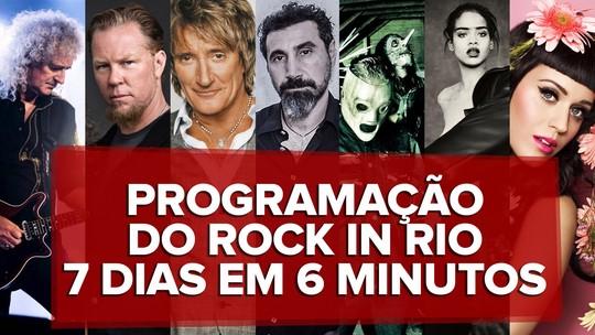 Rock in Rio 2015: Programação completa com atrações dos sete dias