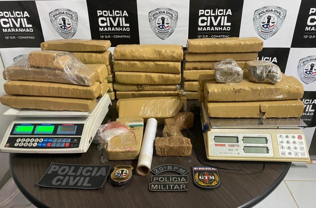 Polícia apreende 30 quilos de droga dentro de residência em condomínio de São Luís