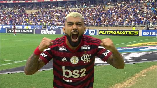 """""""Hoje tem gol do Gabigol"""": após problema com cartaz, atacante do Flamengo usa Libras para comemorar"""
