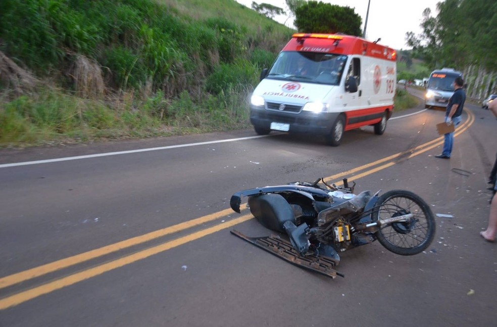 Acidente aconteceu na altura do km 8 da ERS-323, em Pinhal (Foto: Josias Marques/Portal In Foco RS)