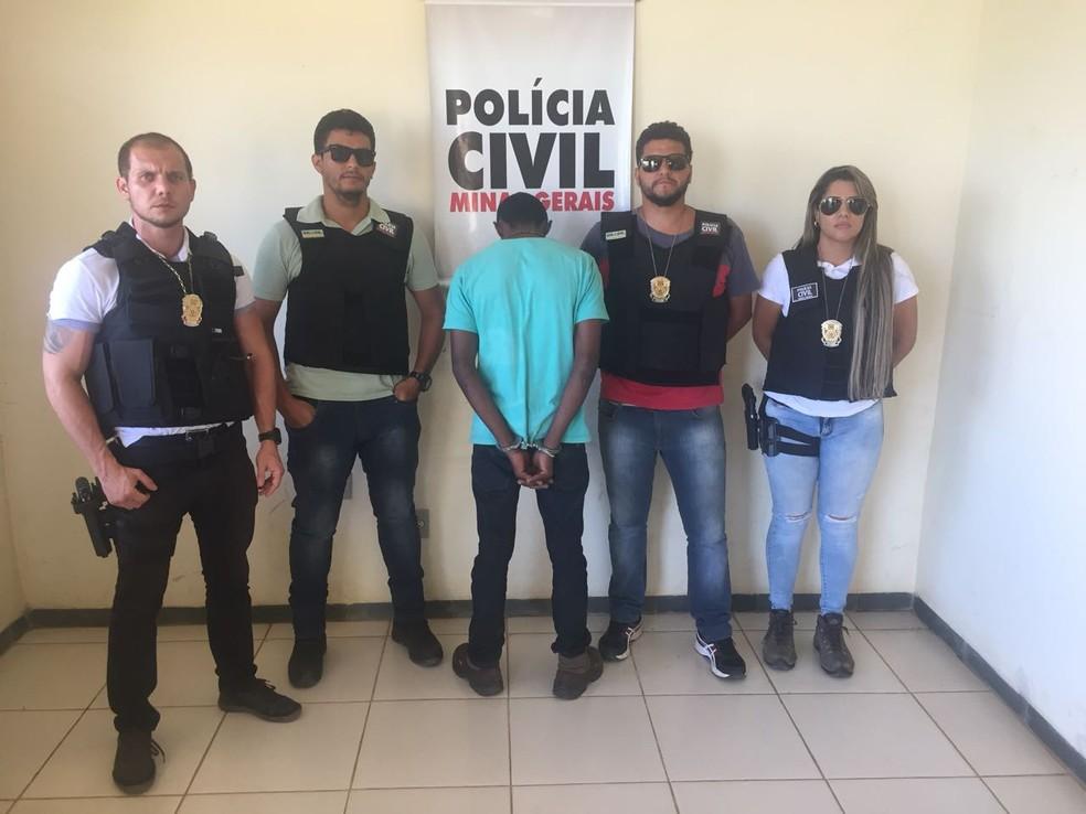 Suspeito foi preso na tarde desta sexta-feira (Foto: Policia Civil / Divulgação)