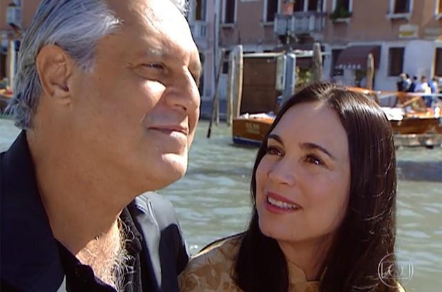 Antonio Fagundes e Regina Duarte como Atílio e Helena em 'Por amor' (Foto: Reprodução)