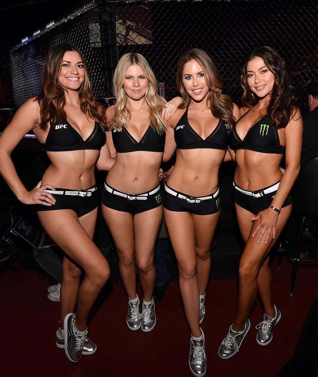 Arianny Celeste e suas colegas ring girls no UFC 232 (Foto: Reprodução/Instagram)