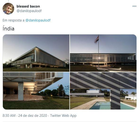 Embaixada da Índia em Brasília (Foto: Reprodução )