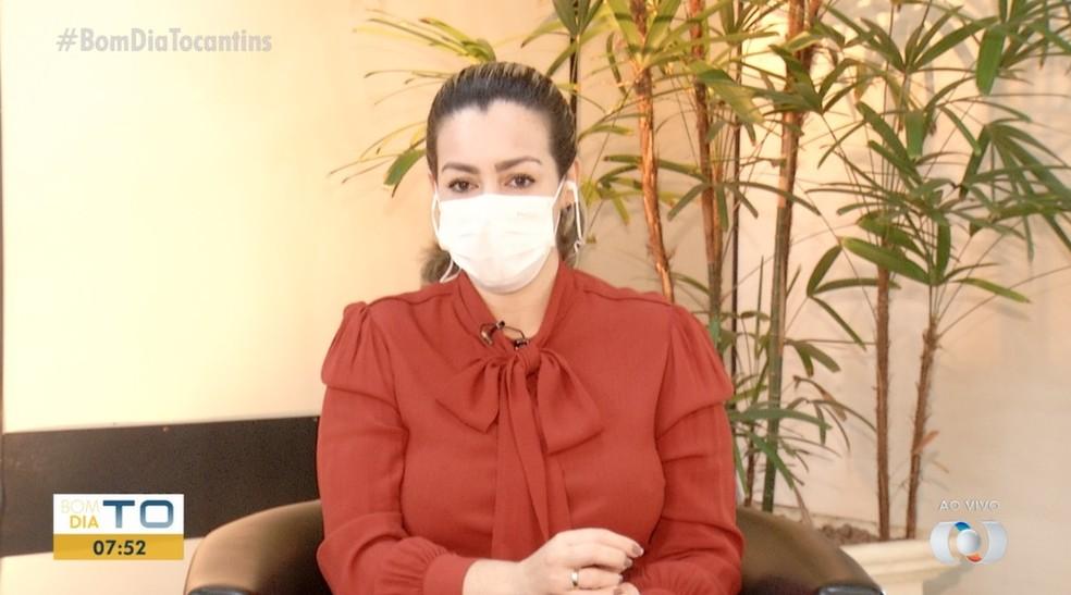 Prefeita de Palmas fala sobre flexibilização das medidas restritivas  — Foto: Divulgação