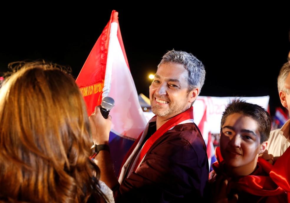 Mario Abdo Benitez, novo presidente do Paraguai (Foto: REUTERS/Andres Stapff)