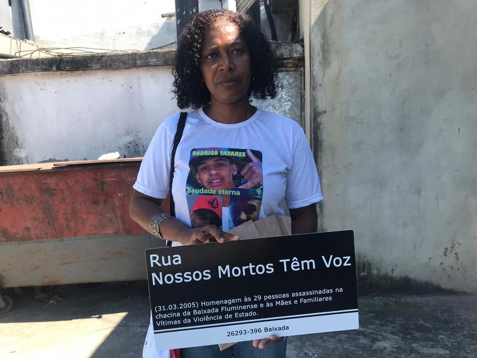 Luciene Silva lembrou o quanto Marielle ajudou na luta das mães e pais que perderam seus filhos — Foto: Lívia Torres/TV Globo