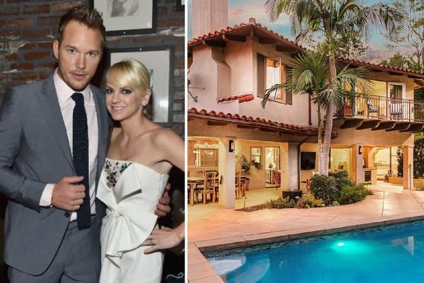 A mansão vendida pelo ex-casal composto pelo ator Chris Pratt e pela atriz Anna Faris (Foto: Getty Images/Divulgação)