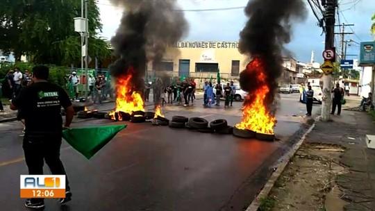 Protestos fecham estradas, escolas e reduzem transporte público em AL nesta sexta-feira