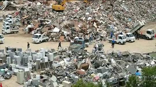 Japão tem dificuldade para restaurar fornecimento de água em cidades atingidas por enchentes