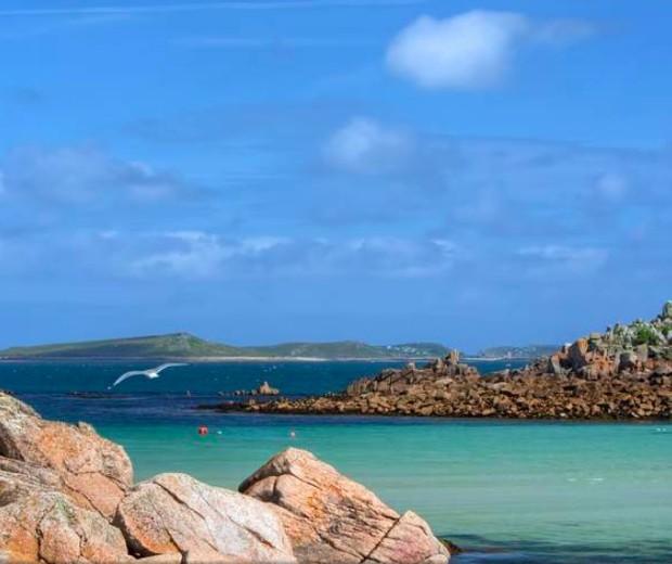 As Ilhas Scilly, onde o casal estava passeando (Foto: Reprodução)