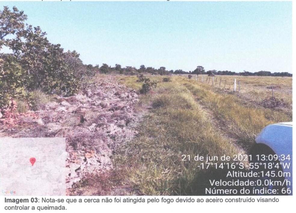 Fazendeiro foi multado em R$ 10,4 milhões pela queimada de 1.735,7077 hectares de vegetação nativa do bioma Pantanal Mato-grossense — Foto: MPMT