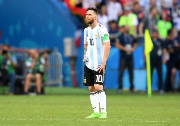 Messi após a derrota para a França nas oitavas  (Foto: Getty Images)