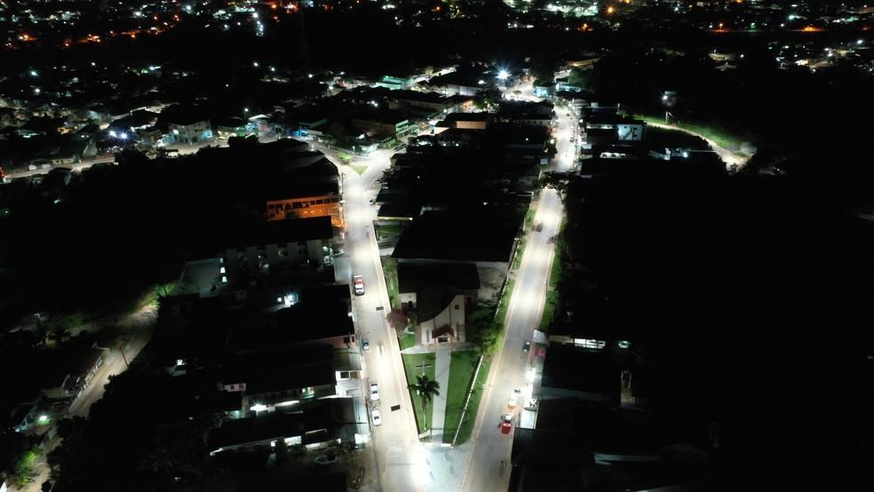 Epitaciolândia  Avenida Santos Dumont — Foto:  Comunicação Energisa Acre