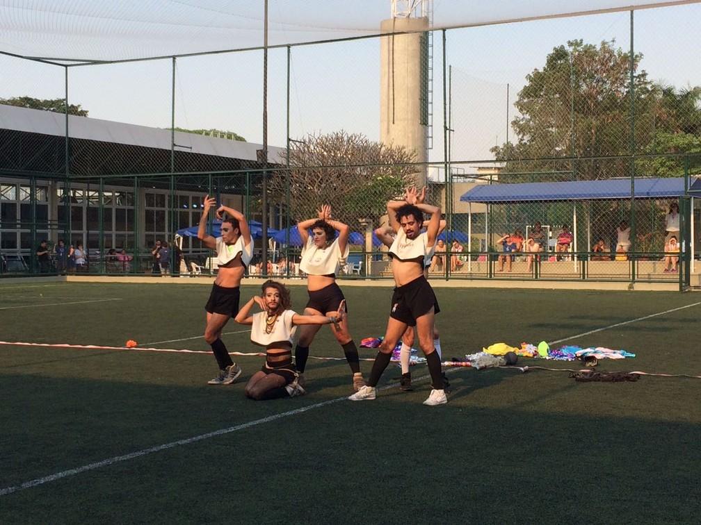 -  Campeonato Interdrag de Gaymada na Bienal de Dança foi um dos destaques do 3º dia  Foto: Letícia Baptista/G1