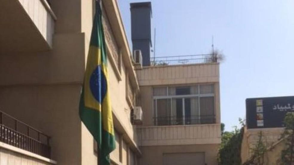 A embaixada brasileira em Dasmasco voltou a funcionar no ano passado (Foto: Divulgação)