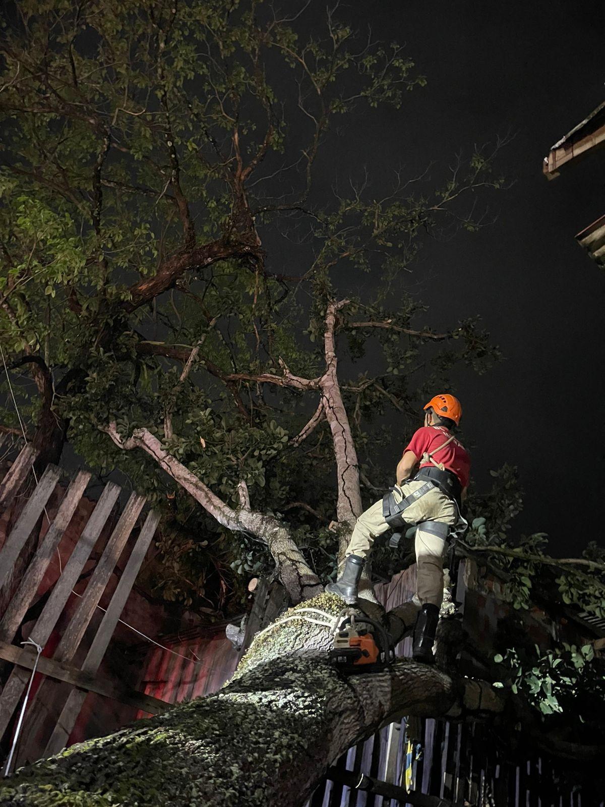 Bombeiros atendem mais de 65 ocorrências após temporal com ventos de até 70 km/h em Rio Branco