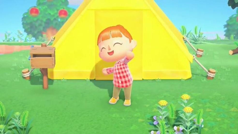 Em Animal Crossing: New Horizons você cria sua ilha e personagem — Foto: Reprodução - Nintendo
