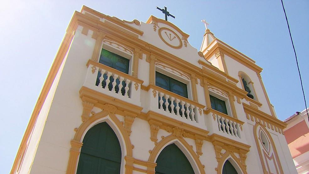 Igreja do Bomfim, em Olinda, foi reinaugurada após seis anos fechada — Foto: Reprodução/TV Globo