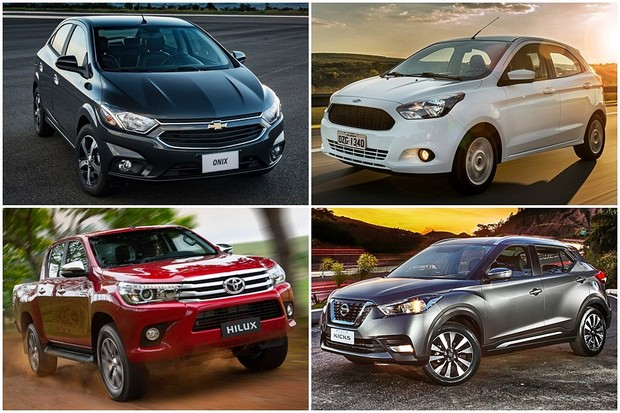 aee0d865a9d Carros mais vendidos da América Latina no primeiro trimestre de 2018 (Foto   Montagem