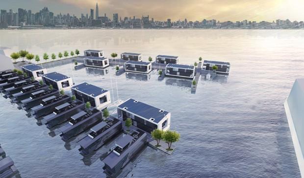"""Empresa cria casas que podem """"flutuar"""" na água e resistir a furacões (Foto: Reprodução)"""