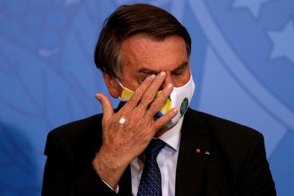 Jair Bolsonaro, durante cerimônia em Brasília na terça-feira (11). — Foto: Ueslei Marcelino/Reuters