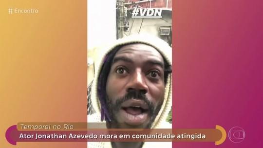 Jonathan Azevedo mostra imagens do temporal no Rio de Janeiro: 'Acabou tudo'