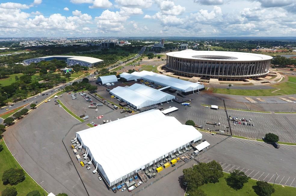 Vila Cidadã, ao lado do Estádio Mané Garrincha, onde acontecerá pate da programação do Fórum Mundial da Água (Foto: Gabriel Jabur/Agência Brasília)