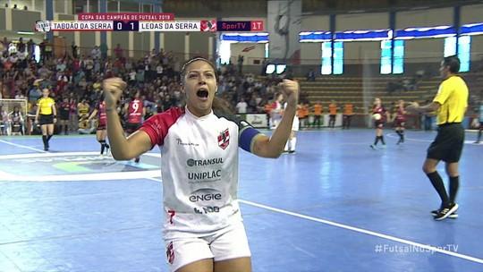 Os gols de Taboão da Serra 1 x 5 Leoas da Serra pela Copa das Campeãs de Futsal