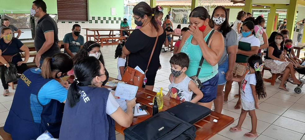 Campanha 'Vacina do Bem' ocorre nesta sexta-feira (24) — Foto: Victor Lebre/CBN Rio Branco