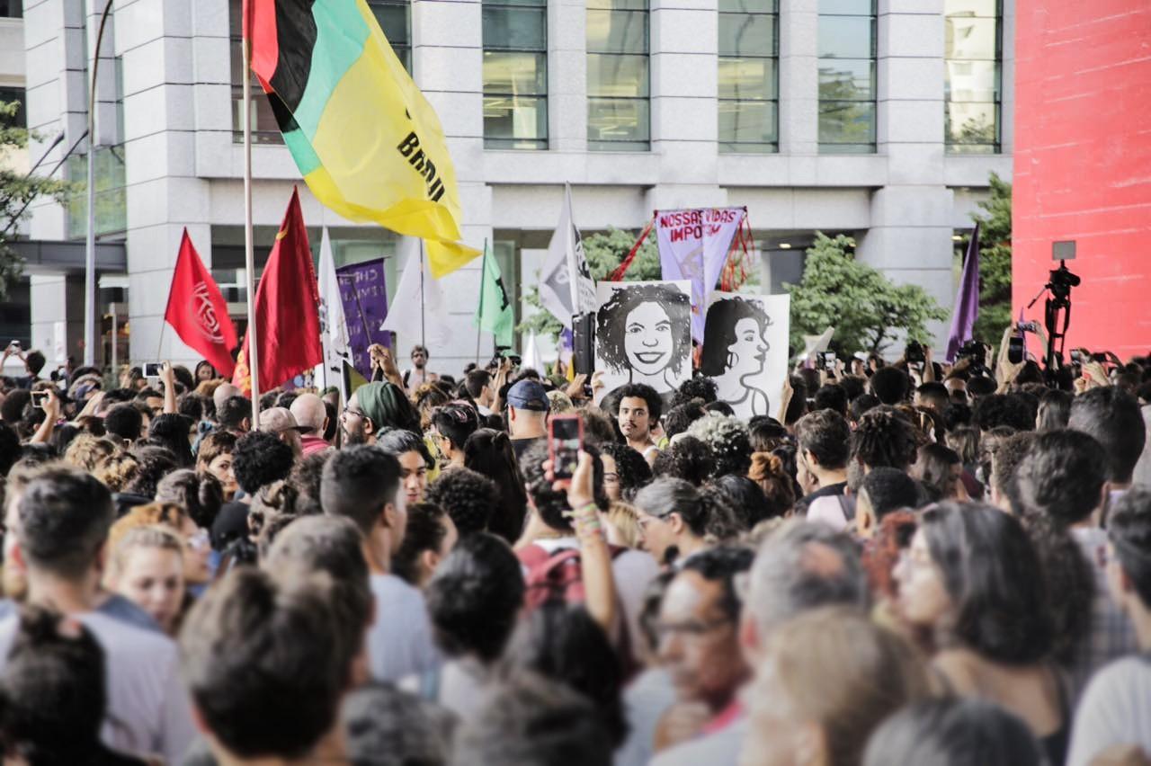 Manifestantes tomam Avenida Paulista em ato que homenageia Marielle Franco (Foto: Reprodução )