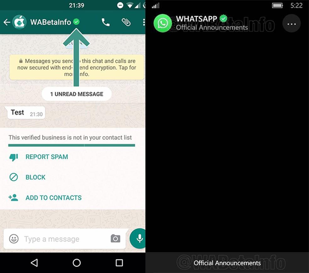 Empresas poderão emitir comunicados oficiais via WhatsApp (Foto: Reprodução/WABetaInfo)