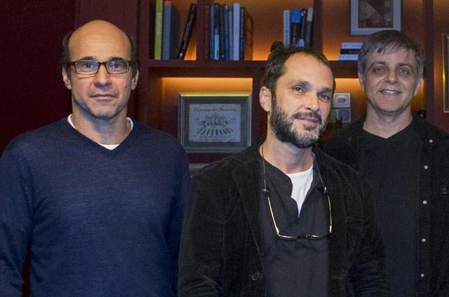 George Moura, José Luiz Villamarim e Sergio Goldenberg (Foto: Globo)