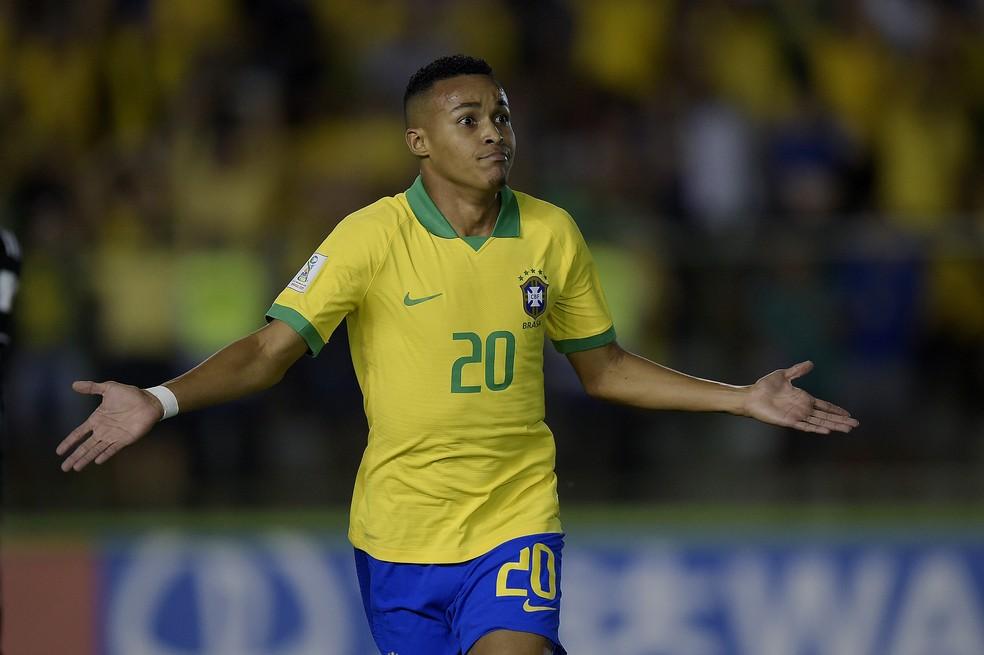 Lázaro gol México Brasil sub-17 Flamengo — Foto: Alexandre Loureiro/CBF