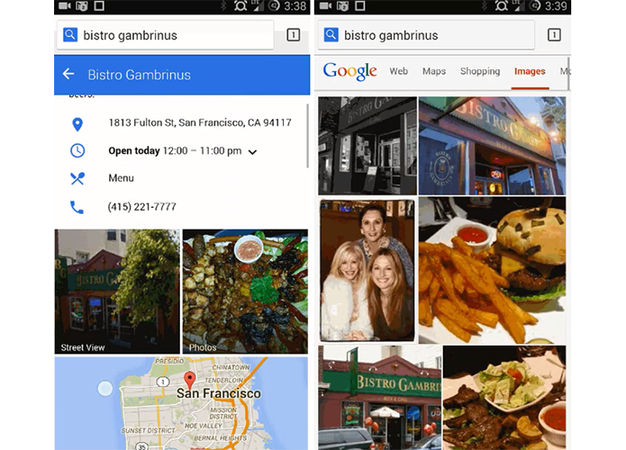 Buscas do Google ganharam barra azul e fotos maiores no celular (Foto: Reprodução/Android Police)