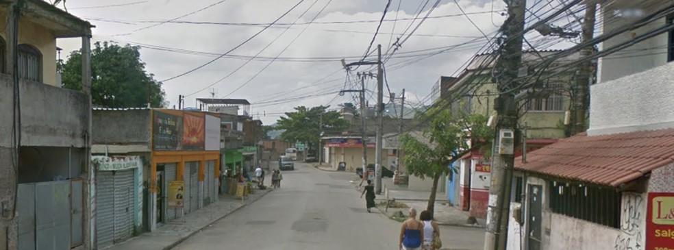 Rua dos Quartéis, em Comendador Soares, onde o policial reformado foi morto (Foto: Reprodução/ Google Street View)