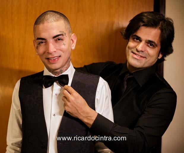 Bastidores do casamento de Lexa e Guimê (Foto: Ricardo Cintra)