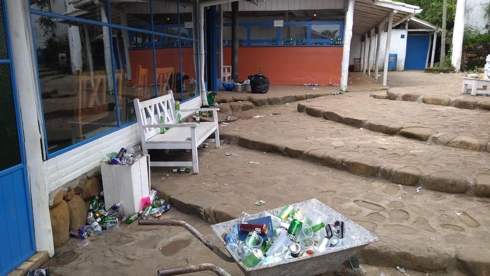 Estabelecimento foi interditado em Imbituba  — Foto: Prefeitura de Imbituba/Divulgação