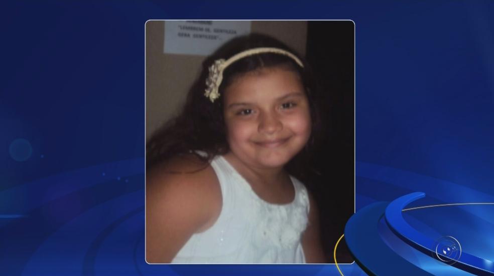 Maria Fernanda, de 9 anos, morreu em acidente em julho de 2013 (Foto: Reprodução/TV TEM)