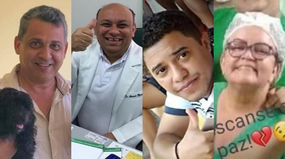 Profissionais da área da saúde morreram em decorrência da Covid-19 no Maranhão. — Foto: Arquivo pessoal/Reprodução