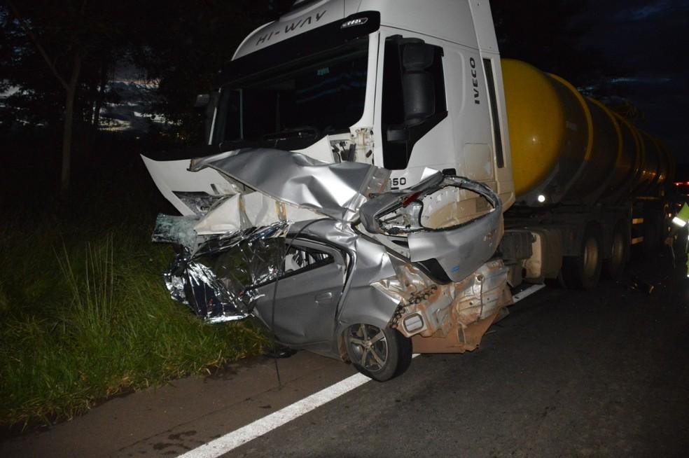 Enfermeira morre ao perder o controle da direção em Paraguaçu Paulista — Foto: Arquivo Pessoal/Manoel Moreno
