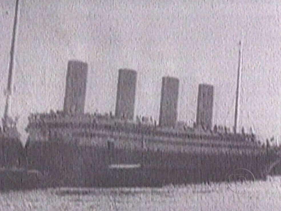 O navio Titanic afundou em sua primeira viagem — Foto: Reprodução / TV Globo