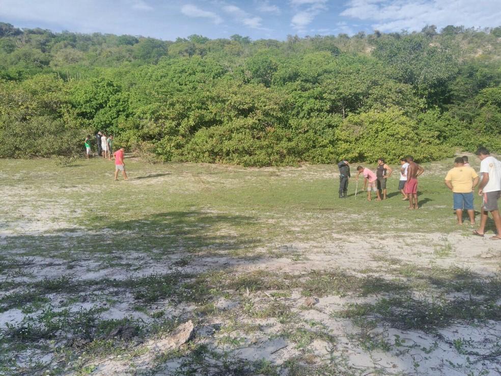 Dois corpos são encontrados em reserva indígena em Aquiraz, no Ceará (Foto: Arquivo pessoal)