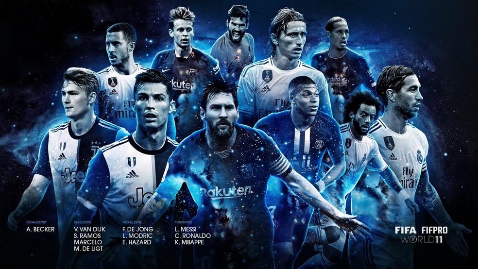 Fifa divulga seleção ideal da temporada — Foto: Reprodução/Twitter