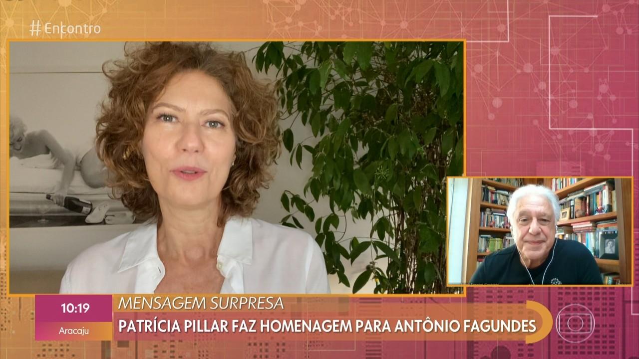 Patricia Pillar manda recado para Antonio Fagundes