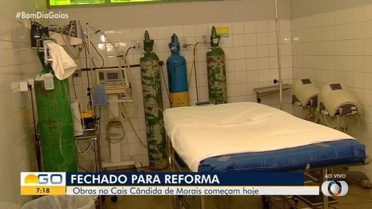 Cais Cândida de Morais é fechado para obras, em Goiânia