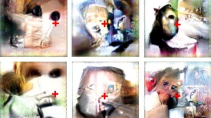Imagens são criadas com uso da Inteligência Artificial para ativar neurônios específicos de macacos e estudar o funcionamento do cérebro desses primatas (Foto: HARVARD MEDICAL SCHOOL)