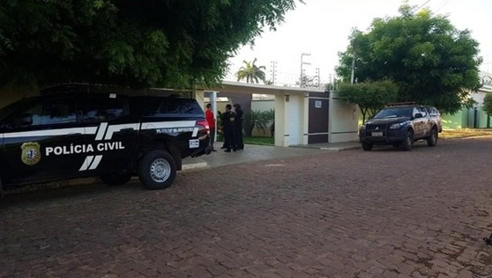 Operação policial combate sonegação fiscal em Balsas e Riachão — Foto: Reprodução/TV Mirante
