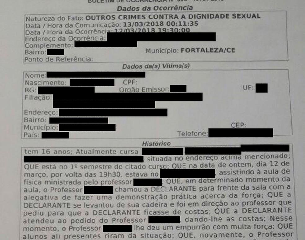 -  Família prestou queixa na delegacia  Foto: Divulgação