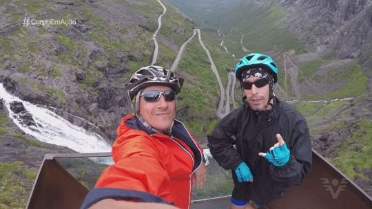 Cicloturista de Itanhaém pedala mais de mil quilômetros na Noruega